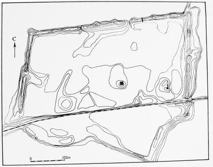 手绘农田平面图