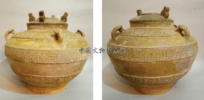 山东临淄发现战国时期铅釉陶罍