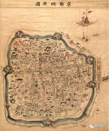 宁波市地图手绘