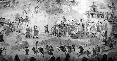 欧洲古代商人简笔画
