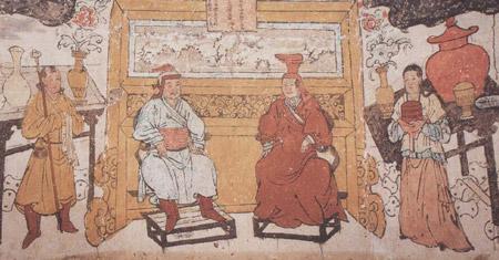 求手绘蒙古女子图