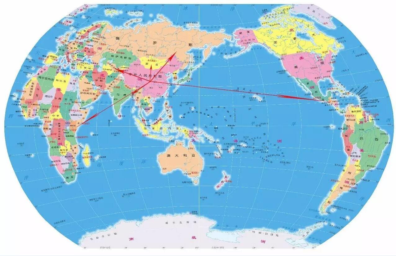 中国考古走向世界(以下按照地图的方向介绍)