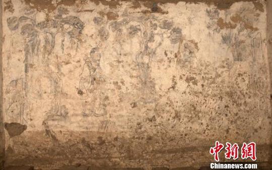 陕西咸阳市武功县发现唐代壁画墓